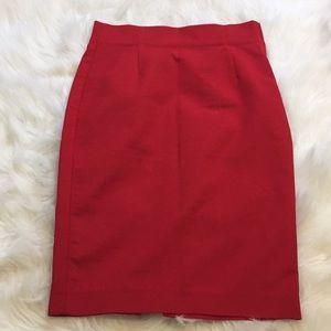 Red Zara Pencil Skirt